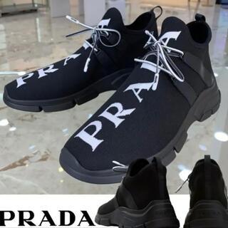 PRADA - PRADA ニットファブリック スニーカー ソックススニーカー