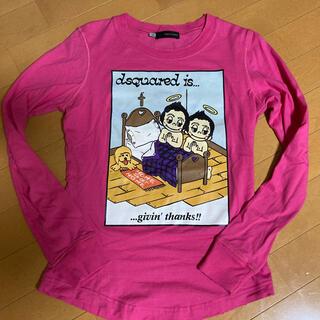 ディースクエアード(DSQUARED2)のディースクエアード ロンT ピンク  XS DSQUARED(Tシャツ/カットソー(七分/長袖))