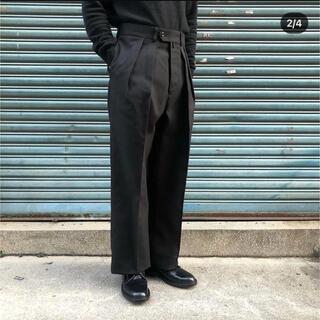 COMOLI - NEAT ホップサック 46  ブラック テーパード