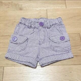 エフオーキッズ(F.O.KIDS)のF.O.KIDS エフオーキッズ ショート パンツ 90サイズ 紫 千鳥(パンツ/スパッツ)