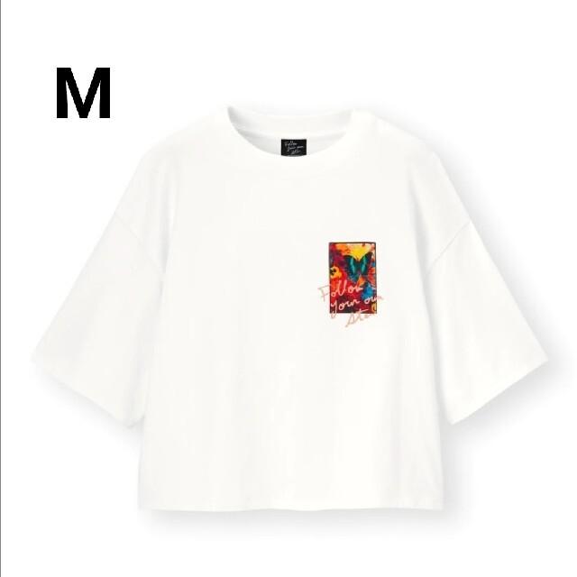 GU(ジーユー)のGU  蜷川実花 クロップドグラフィックT レディースのトップス(Tシャツ(半袖/袖なし))の商品写真