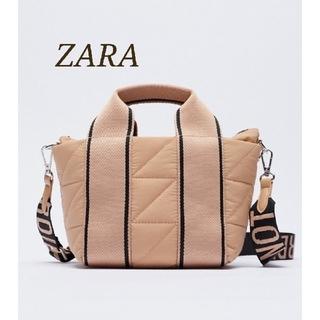 ZARA - 新品 ナイロンテキストシティバッグ トート ショルダー 入手困難 完売品
