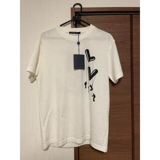 ルイヴィトン(LOUIS VUITTON)の確実正規品 LOUIS VUITTON フロウティングLVプリンテッドTシャツ(Tシャツ/カットソー(半袖/袖なし))