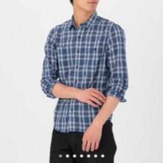 ムジルシリョウヒン(MUJI (無印良品))の無印良品 ダブルポケットチェックシャツ ブルー Lサイズ(シャツ)