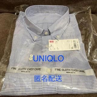 ユニクロ(UNIQLO)の新品未使用 ユニクロ ファインクロス チェックシャツ イージーケア 長袖 XL(シャツ)
