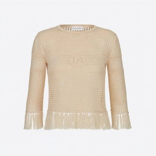 Christian Dior - 新作 Dior セーター フリンジ 七分袖