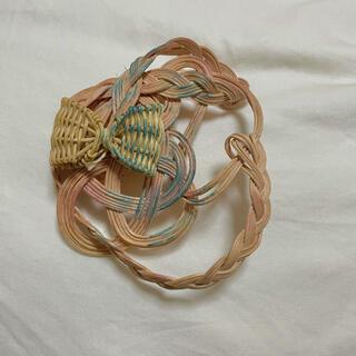 ケイスケカンダ(keisuke kanda)のYOSHIKO 籐編み ラタン ヘアアクセサリー(ヘアアクセサリー)