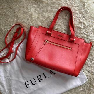 Furla - 美品 FURLA フルラ 2wayバッグ レザー サッチェル オレンジ 保存袋付