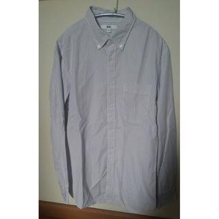 ユニクロ(UNIQLO)のユニクロ ブロードストライプシャツ Mサイズ (シャツ)