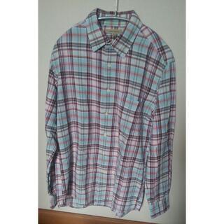 ユニクロ(UNIQLO)のユニクロ リネンブレンドチェックシャツ Mサイズ(シャツ)
