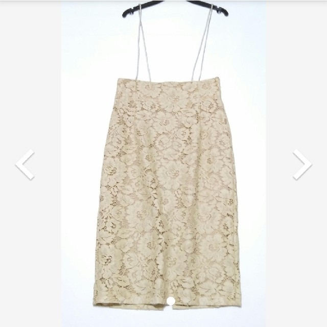 DEUXIEME CLASSE(ドゥーズィエムクラス)のWhim Gazetteレースサロペスカート レディースのスカート(ひざ丈スカート)の商品写真