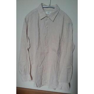 ユニクロ(UNIQLO)のユニクロ リネンシャツ ベージュ Mサイズ(シャツ)