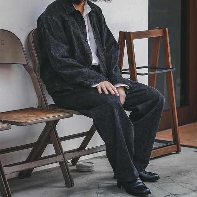 COMOLI(コモリ)のCOMOLI  デニムジャケット ブラック/エクリュ メンズのジャケット/アウター(Gジャン/デニムジャケット)の商品写真