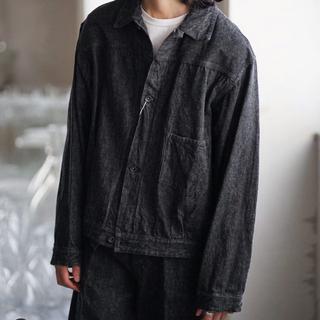 COMOLI - COMOLI  デニムジャケット ブラック/エクリュ
