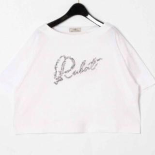 グレースコンチネンタル(GRACE CONTINENTAL)のグレースコンチネンタル  ✨ビーズ刺繍ロゴTシャツ✨(Tシャツ(半袖/袖なし))