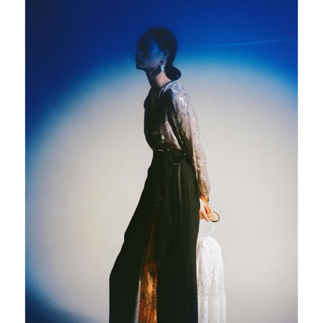 mame(マメ)の【shigeさま専用出品】mame Silk Lame Print Dress レディースのワンピース(ロングワンピース/マキシワンピース)の商品写真