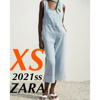 ザラ(ZARA)のZARA デニムジャンプスーツ オーバーオール(サロペット/オーバーオール)