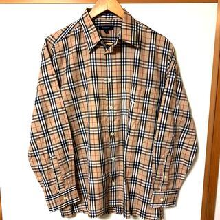 BURBERRY - バーバリーロンドン ノバチェックシャツ ワンポイント 刺繍 M    美品