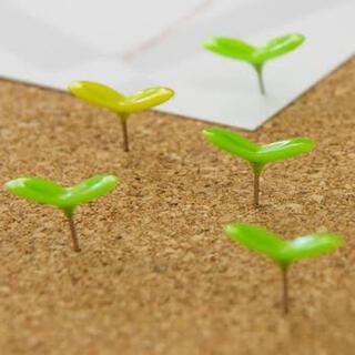 パイロット(PILOT)の+d グリーンピン Green Pin 芽 画鋲 コルクボード 日本製(その他)