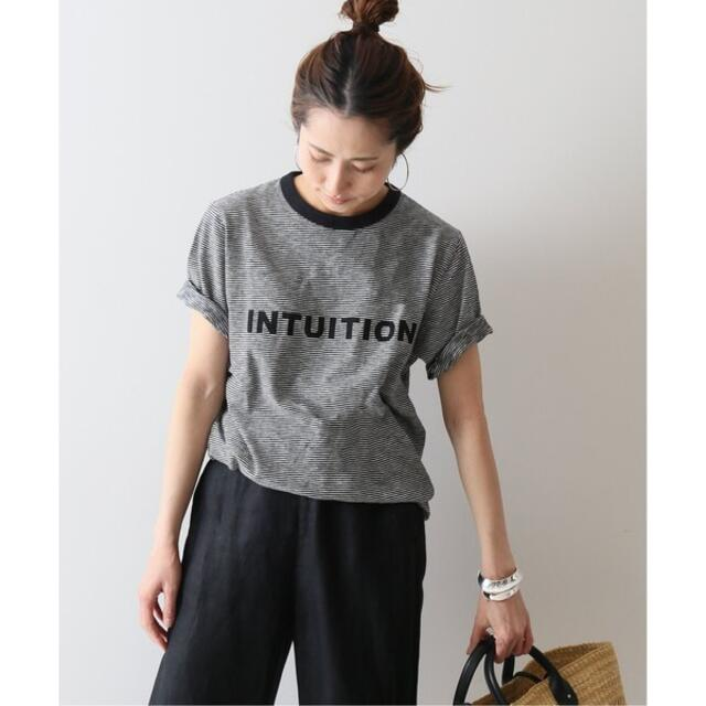 FRAMeWORK(フレームワーク)のFRAMeWORK INTUITION ボーダー ロゴTシャツ レディースのトップス(Tシャツ(半袖/袖なし))の商品写真