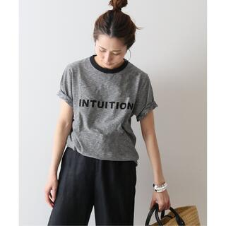 FRAMeWORK - FRAMeWORK INTUITION ボーダー ロゴTシャツ