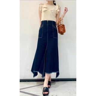 Lily Brown - Lily brown リリーブラウン マーメイドラインスカート blu 1 新品
