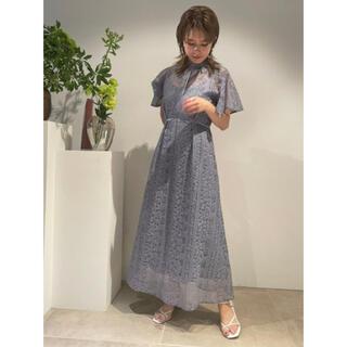 FRAY I.D -  FRAY I.D (フレイ アイディー)  フローティング刺繍ドレス