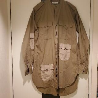J.W.ANDERSON - JWANDERSONコットンカーキKHKアニマルコントラストポケットシャツ