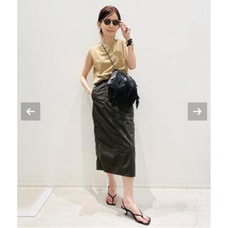 L'Appartement DEUXIEME CLASSE - アパルトモン Americana Nylon Tight Skirt 34