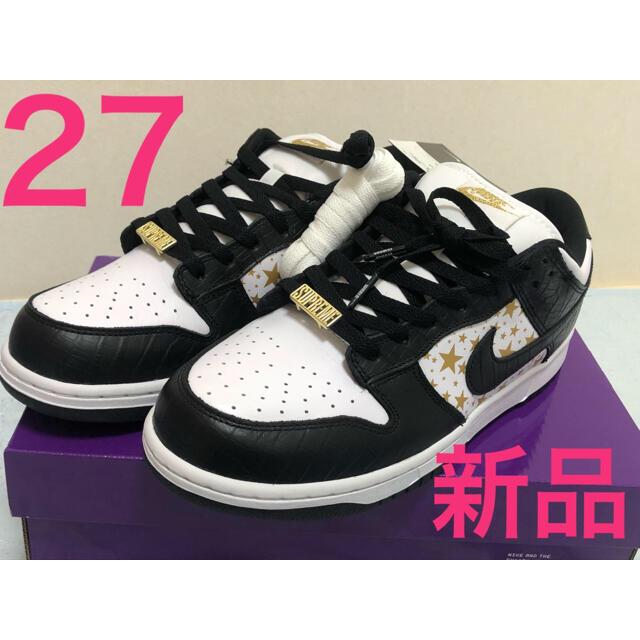 Supreme(シュプリーム)の新品 27cm NIKE Supreme ダンク コラボ 黒 メンズの靴/シューズ(スニーカー)の商品写真
