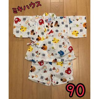 ミキハウス(mikihouse)のレトロかわいい♡ ミキハウス クマさんお面柄 甚平 90(甚平/浴衣)