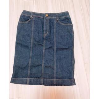 バーバリー(BURBERRY)のBurberry デニムスカート (ひざ丈スカート)