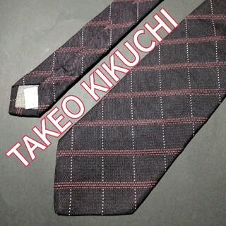 タケオキクチ(TAKEO KIKUCHI)のTAKEO KIKUCHI チェック ネクタイ ブラウン(ネクタイ)