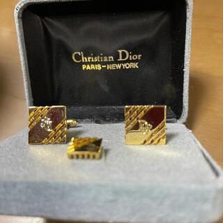 クリスチャンディオール(Christian Dior)のDior カフス・タイタックセット 美品(ネクタイピン)
