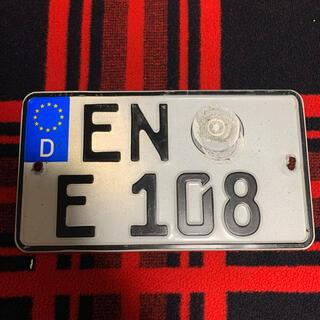 ホンダ(ホンダ)の108 本物ドイツバイクユーロナンバープレートBMWベンツ アウディホンダヤマハ(その他)