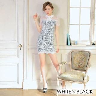デイジーストア(dazzy store)の【dazzy】リボン襟付きドレス(ナイトドレス)