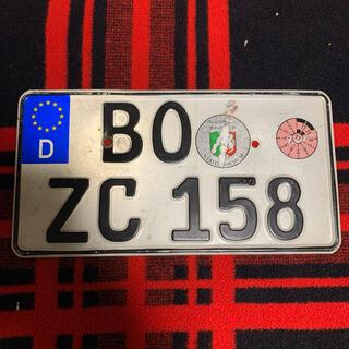 ホンダ(ホンダ)の158 本物ドイツバイクユーロナンバープレートBMWベンツ アウディホンダヤマハ(その他)
