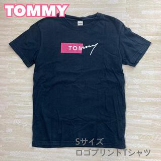 トミー(TOMMY)のTOMMY トミー ロゴプリントTシャツ 黒Tシャツ Sサイズ(Tシャツ/カットソー(半袖/袖なし))