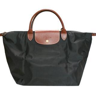 ロンシャン(LONGCHAMP)のロンシャン ハンドバッグM ブラック 新品(ハンドバッグ)
