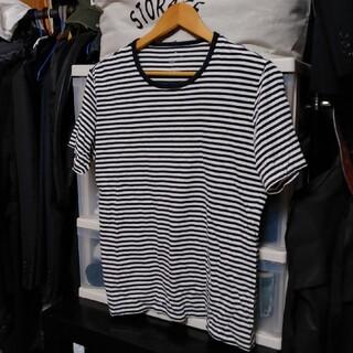 ムジルシリョウヒン(MUJI (無印良品))の無印良品 メンズ Mサイズ Tシャツ ボーダー(Tシャツ/カットソー(半袖/袖なし))