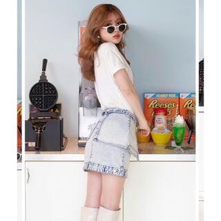 エイミーイストワール(eimy istoire)の♡ Darich ♡ Gジャンモチーフデニムスカート(ミニスカート)
