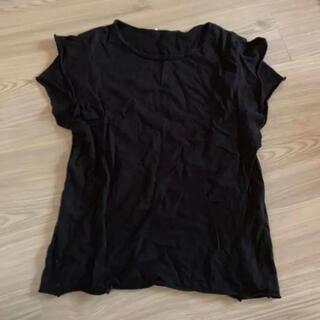 ZARA - ZARA Tシャツ 袖フリル ブラック