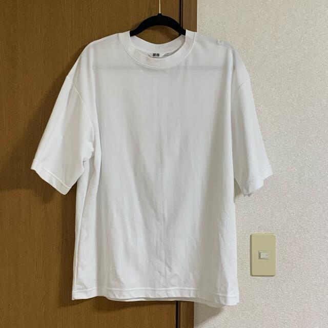 UNIQLO(ユニクロ)の【専用!】エアリズムコットンオーバーサイズTシャツ(5分袖) メンズのトップス(Tシャツ/カットソー(半袖/袖なし))の商品写真