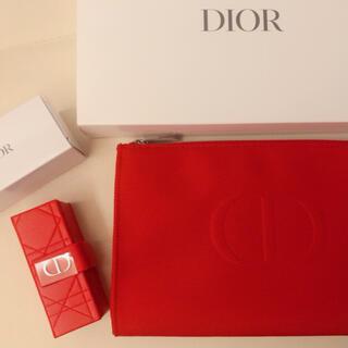 Dior - Dior * 限定レッドポーチ&リップケース