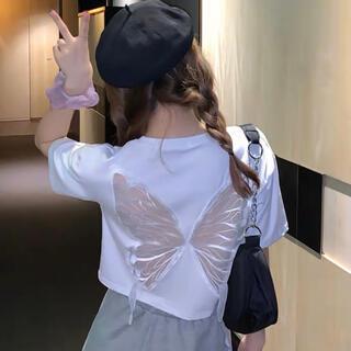 2021夏最流行 ちょっぴりセクシー蝶々シャツスカートセット(衣装一式)