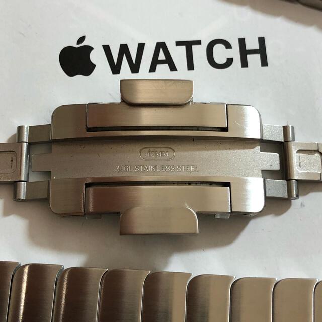 Apple(アップル)の美品 純正 apple watch  44mm シルバー リンクブレスレット メンズの時計(金属ベルト)の商品写真