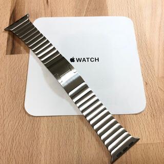 Apple - 美品 純正 apple watch  44mm シルバー リンクブレスレット