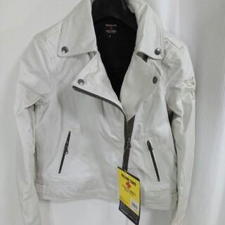 イエローコーン(YeLLOW CORN)のイエローコーン オフホワイト ライダースジャケット M 9号 YB-4121L(ライダースジャケット)