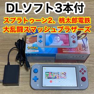Nintendo Switch - スイッチ ライト + ダウンロードソフト3本 switch 本体