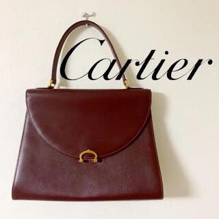 Cartier - カルティエ マストライン ハンドバッグ ヴィンテージ オールド レトロ レザー